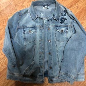 Ava & Viv embroiders jean jacket